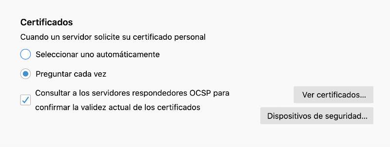 instalar certificado digital en firefox