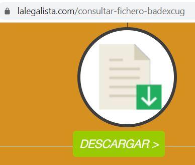 """Botón """"Descargar"""" en el sitio web de La Legalista."""