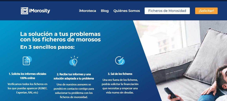 Página principal del sitio web de iMorosity.